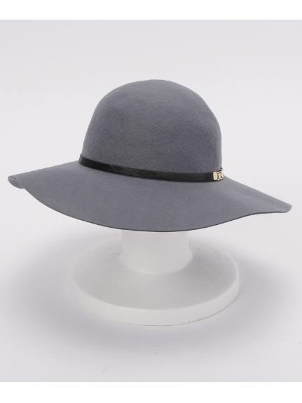COOCO (クーコ) フェルトカウヘアー帯付ツバ広HAT グレー