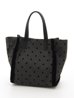 【HALIN】Dot Flocky x Denim Mini Tote