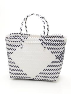 ダイヤ柄編みトートバッグ