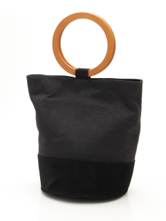 【HALIN】ウッドハンドル切り替えバッグ