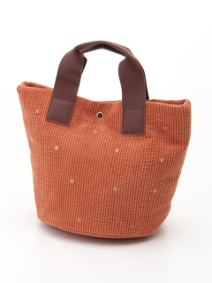 星刺繍コーデュロイトートバッグ