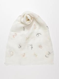 リネンナンバー刺繍ストール