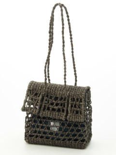 【HALIN】Window Crochet Flap Tote