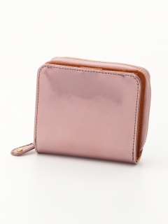 【Nananoel】sparkling メタリックレザーラウンド二ツ折リ財布