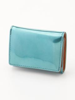 【Nananoel】sparkling メタリックレザー三ツ折リミニ財布
