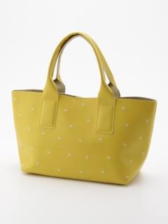 星刺繍フェイクレザートートバッグ