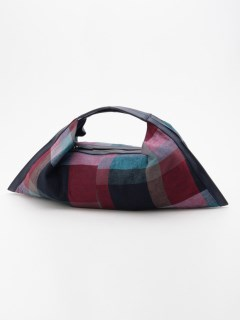 【Nananoel】マドラスチェック柄生地トートバッグ