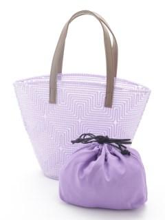 巾着付刺繍トートバッグ