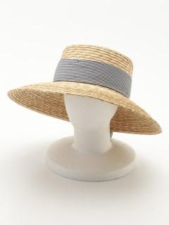 太帯ストローツバ広カンカン帽