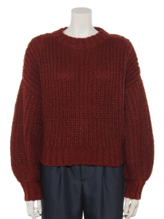 ぷっくり袖畦編みプルオーバー