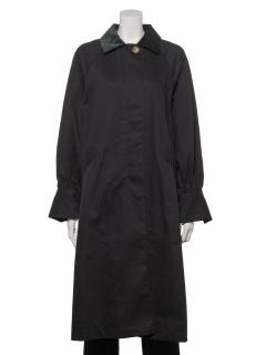 ぷっくり袖ステンカラーコート