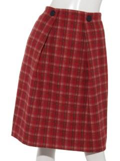 タータンチェックタックタイトスカート
