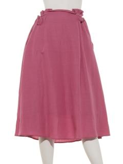 サイドリボンフレアースカート