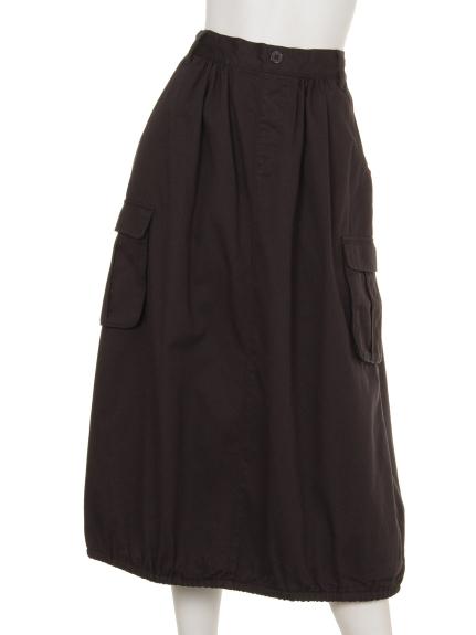 NANEA (ナネア) カラーツイルカーゴスカート チャコール