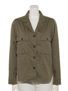 高密度バックサテンシャツジャケット
