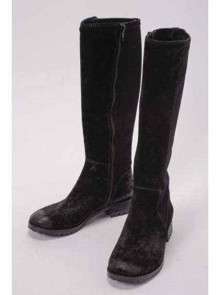 あしながおじさん (アシナガオジサン) ロングブーツ ブラック