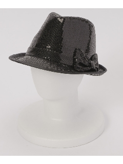 スパンコール使い中折れ帽