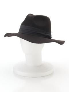 ウェーブつば広中折れ帽