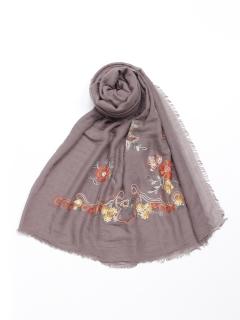 ペイズリー刺繍ショール