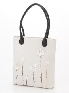 花モチーフ&刺繍トートバッグ