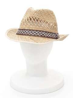 透かし編み中折れ帽