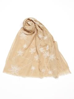 花刺繍ショール