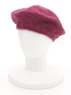 アンゴラ混ベレー帽