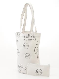 フェイス刺繍キャバスバケツバッグ