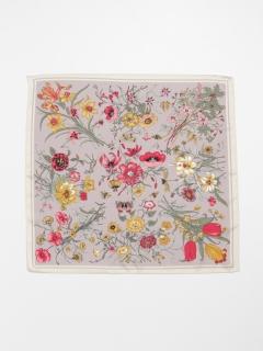 花柄&ボーダーミニスカーフ