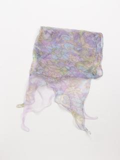 シルク2枚仕立て花柄スカーフ