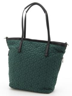 花キルティング刺繍トートバッグ
