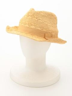 手編み中折れ帽