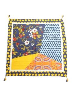 水玉&花柄柄インドスカーフ