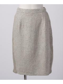 ツィード脇リブスカート