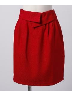 ウエスト折り返しデザインコクーンスカート
