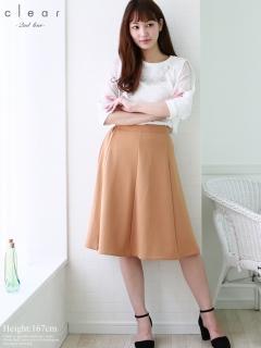 【2ndline】無地カラバリフレアスカート