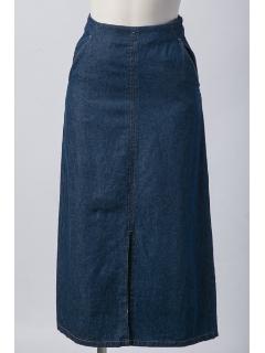 【2ndline】前スリットロングデニムスカート