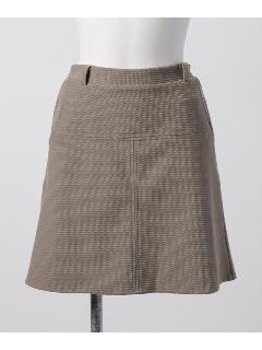 ガーター編みジャガード台形スカート