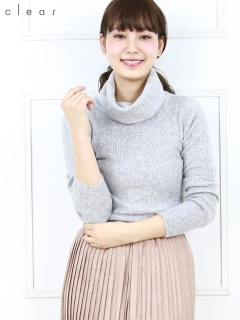 【2ndline】オフタートルニットトップス