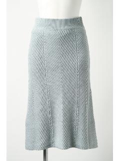 【1stline】レジメ編み膝下丈ニットスカート