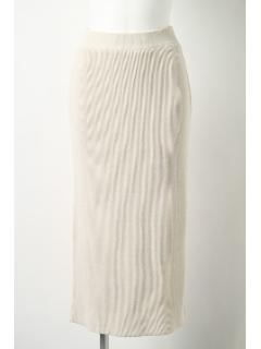 【1stline】ミラノリブニットロングスカート