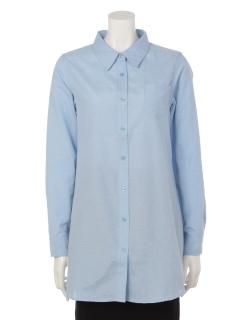 clear【2ndline】ベーシックチュニックカラーシャツ