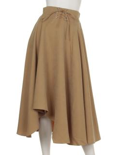 clearウエストスピンドルデザインスカート