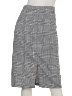 clearグレンチェックタイトスカート