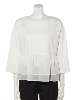 裾フリルポンチ長袖カットソー