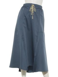 ウエストレースアップデザインスカート