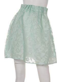 ウエストタックシアー花柄スカート