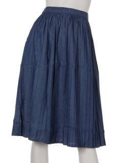4.5ozデニムプリーツスカート