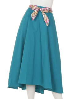 スカーフ付きロングスカート