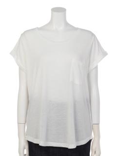 Uネックポケット付きTシャツ